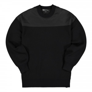Y-3 Nylon-Knit Crew Sweater ( FJ0453 )
