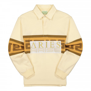Aries Meandros Rugby Shirt ( FRAR40214 / Beige )