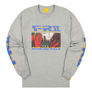 Fucking Rabbits The Finger Longsleeve Tee ( FRC595 / Grey )
