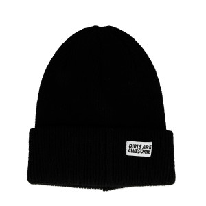 Girls Are Awesome Lambswool Merino Icon Beanie ( GAA-5-001U / Black )