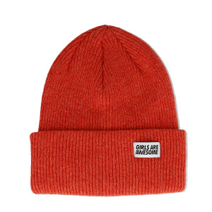 Girls Are Awesome Lambswool Merino Icon Beanie ( GAA-5-001U / Papaya )