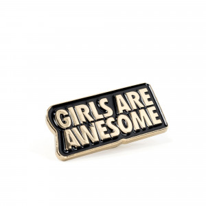 Girls Are Awesome Pin ( GAA-7-002U / Gold )