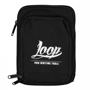 Loop Shoulder Pouch Logo White