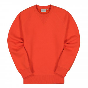 Carhartt WIP Chase Sweat ( I026383.0G0.90.03 / Safety Orange / Gold )