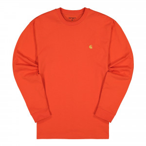 Carhartt WIP Chase Longsleeve Tee ( I026392.0G0.90.03 / Safety Orange / Gold )