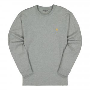 Carhartt WIP Chase Longsleeve Tee ( I026392.V6.90.03 / Grey Heather / Gold )