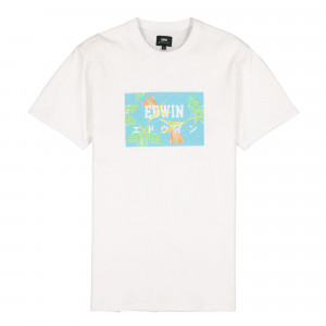 Edwin Birds Of Paradies TS ( I027904.WAG.67.03 / White / Angel Blue )