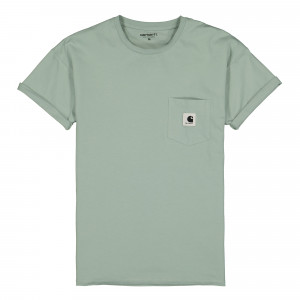 Carhartt WIP S/S Carie Pocket T-Shirt ( I028439.0F3.00.03 / Frosted Green )
