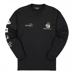 Carhartt WIP L/S Race Play T-Shirt ( I028499.89.00.03 / Black )