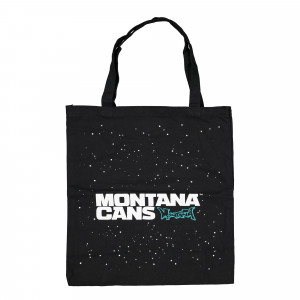 Montana Cotton Bag Typo Logo Stars Black