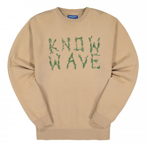 Know Wave Branches Crewneck ( KFA-1950-A / Natural )