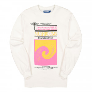 Know Wave Encyclopedia Longs Sleeve Tee ( KSP-1942-A / White )