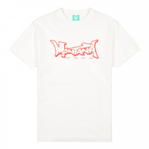 Montana Logo T-Shirt ( White / Red )