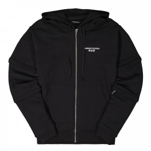 Midnight Studios Layered Logo Zip-Hoodie ( MS-04A-04-003 / Black )