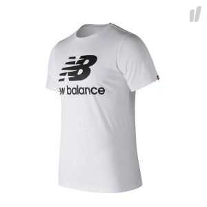 New Balance Essentials Stacked Logo Tee ( MT83530WT / 660060-60-3 )