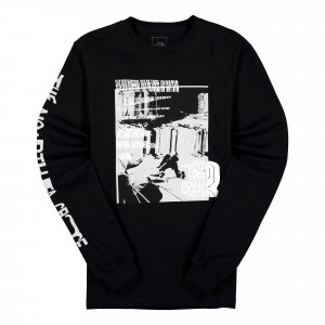 The North Face Warped Graphic Longsleeve Tee ( NF0A55U7JK3 / Black )