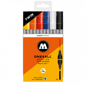 Molotow ONE4ALL Acrylic Twin Basic-Set 1