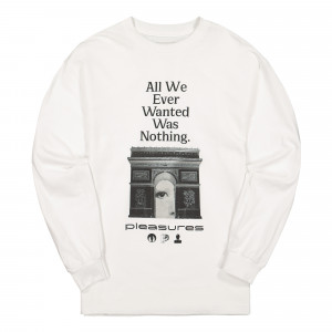 Pleasures Nothing Long Sleeve T-Shirt ( P19F101058 / White )