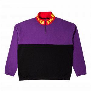 Pleasures Misfit Color Block Half Zip Sweater ( P19P102008 )