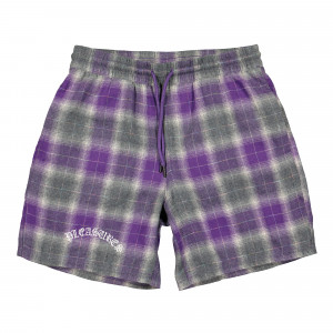 Pleasures Now Shadow Plaid Shorts ( P19S105003 / Purple )
