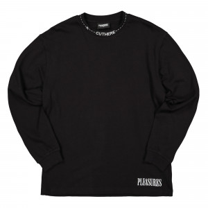 Pleasures Cut Here Heavyweight L/S Shirt ( P19W109014 / Black )