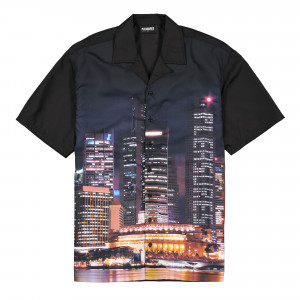 Pleasures Metro Button Down Shirt ( P20SPCUT0014 / Black )