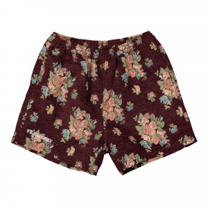 Pleasures Dejavu Woven Floral Shorts ( P21SP016-Maroon )