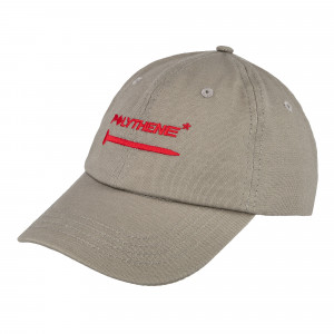 Polythene Optics Embroidered Logo Cap ( PO-CA-02-RED-GRY )