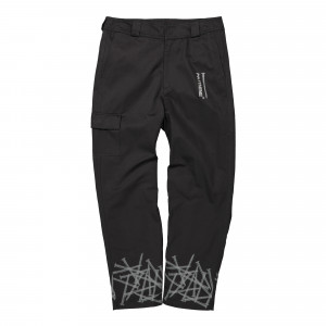 Polythene Optics Twill Cargo Pant ( PO-CP-01-GRY-BLK )