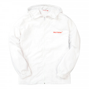 Polythene Optics Nylon Zipped Windbreaker ( PO-FZJ-01-WHT-C205 )