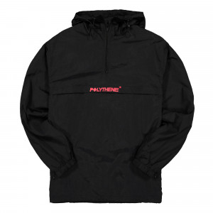 Polythene Optics Half Zip Windbreaker ( PO-WB-01-RED-BLK )