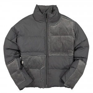 C2H4 Vagrant Corduroy Panelled Down Jacket ( R001-A004 / Gray )