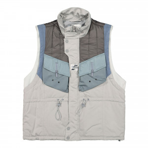 C2H4 Memory Supervisor Panelled Quilted Gilet ( R001-B022 / Gray )