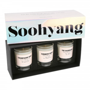 Soohyang Trial 3 Pack Candle Set 30g ( SBV / Opal )
