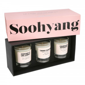 Soohyang Trial 3 Pack Candle Set 30g ( SBV / Pink )
