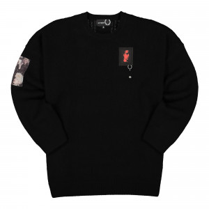Raf Simons x Fred Perry Oversized Patch Jumper ( SK9030 / Black )