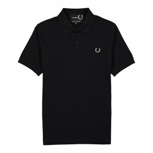 Raf Simons x Fred Perry Laurel Wreath Detail Polo Shirt ( SM9032 / Black )