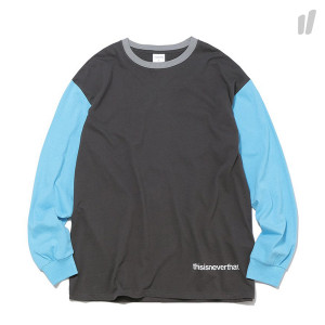 thisisneverthat Muitl Color L/SL Top ( TN18FTS002 / Charcoal )