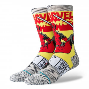 Stance Disney Mens Deadpool Comic Socks ( U545C19DEA-GRY )