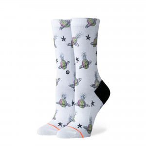 Stance Pineapple Planet Crew Socks ( W525C19PPC-WHT )