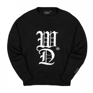 Wasted Paris Signature Knit Sweater ( Black )