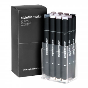 Stylefile Marker 12er Grey Set WarmStylefile Marker 12er Grey Set Warm