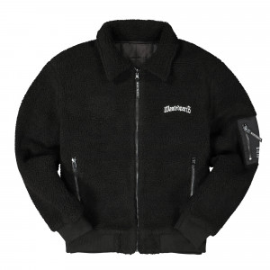 Wasted Paris Reversible Zipper Jacket Sherpa ( Black )