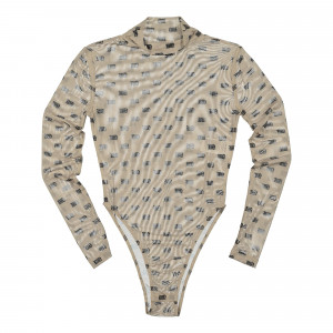 Wasted Paris Body Mesh Allover Monogram ( WPBMAM / Nude )