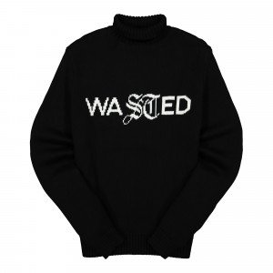 Wasted Paris Turtleneck Sweater Signature ( WPTSS / Black )