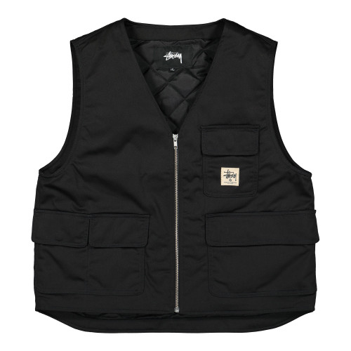 Stussy Insulated Work Vest ( 115535 / 0001 / Black )