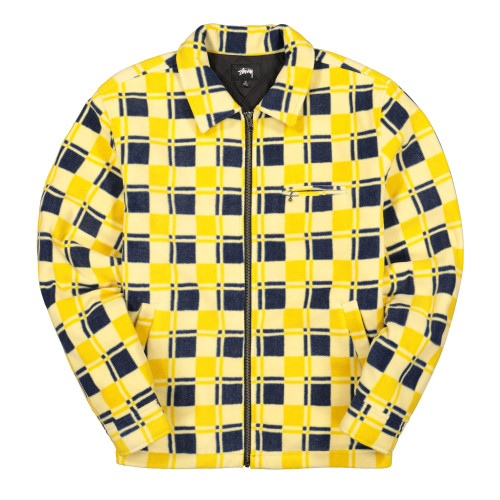 Stussy Brent Polar Fleece Jacket ( 118374 / 0201 / Yellow )