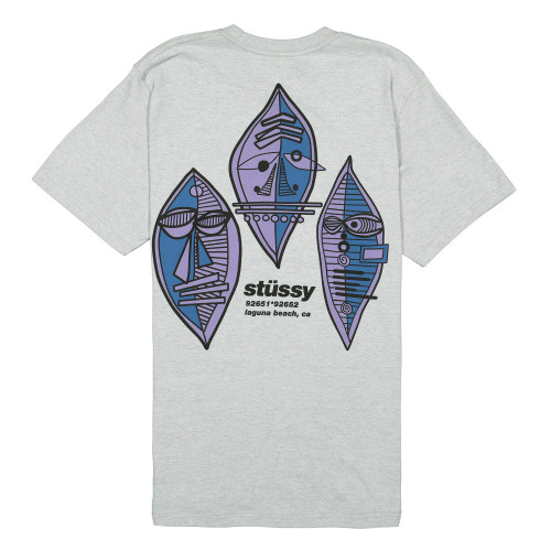 Stussy Triple Mask Tee ( 1904484 / 0009 / Grey Heather )