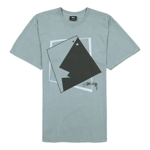 Stussy Square Face Pig. Dyed Tee ( 1904490 / 0007 / Slate )
