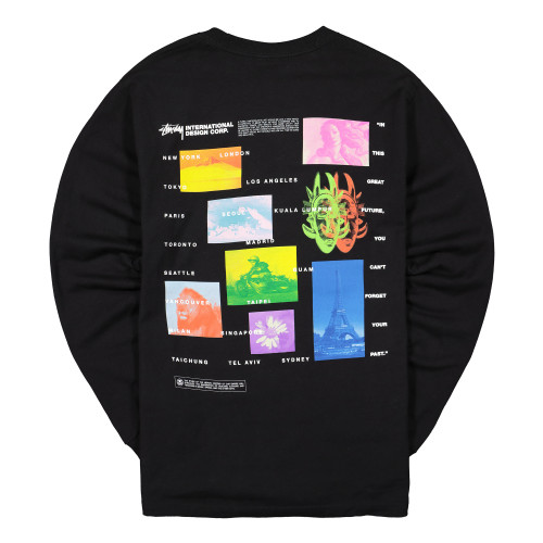 Stussy Great Future Longsleeve Tee ( 1994444 / 0001 / Black )